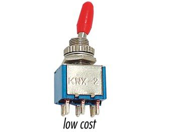 VERTICAL TOGGLE SWITCH DPDT ON-ON - LOW COST