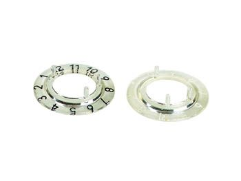 DIAL FOR 21mm BUTTON (TRANSPARENT - WHITE 10 DIGITS)