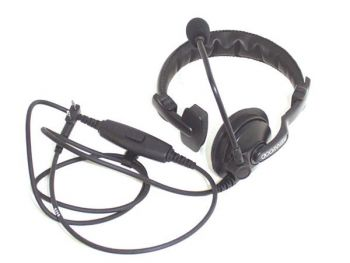 KENWOOD® - KHS-7A SINGLE MUFF HEADSET WITH BOOM MIC & PTT