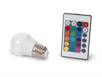 LEDLAMP - 4 W - E27 - RGB & WARMWIT